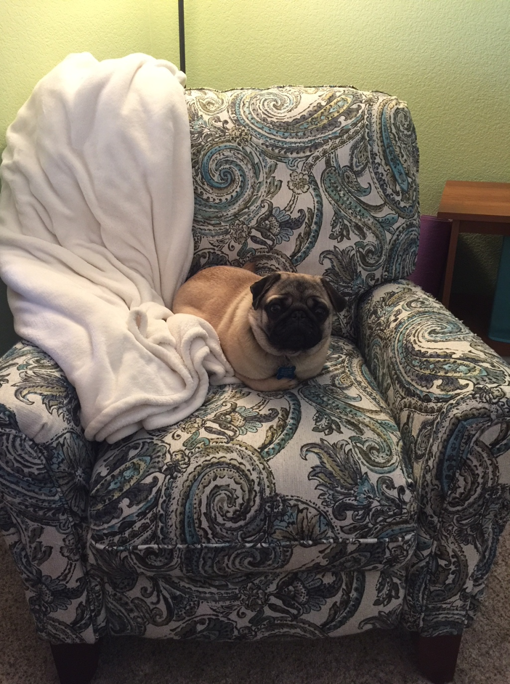 George on chair